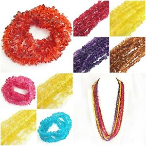 """Glass Crystal Chip Beads 36"""" strand Jewelry Making Freeform Nugget 9mm Wholesale"""