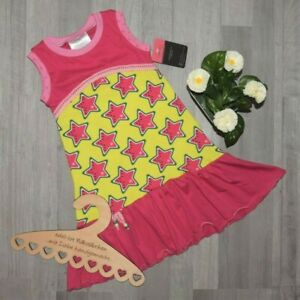 "handmade ""JUST GIRLY"" Vollantkleid Kleid MELONSTARS melone sterne Gr. 110/116"