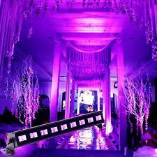27W 9x LED UV Black Light Stage Light Effect Lighting Bar Party Disco DJ Show
