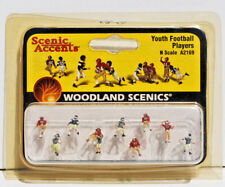 Woodland Scenics N Scale Painted Figures, Youth Football Players. New.