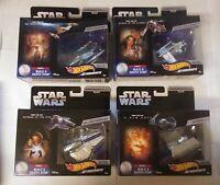 Hot Wheels Starships Star Wars Commemorative Series Lot of 4 Gunship Tie Fighter