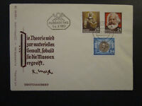 Germany DDR 1953 Marx Series FDC to 84pf / Unaddressed / Cacheted - Z4514