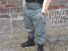 Motorradhose grau Leder  Lederhose  Rindsleder Breeches Gr.56-Neuwertig