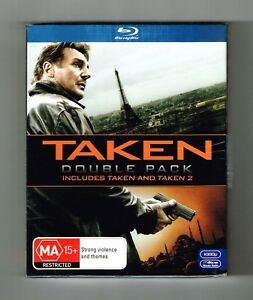 Taken / Taken 2 Extended Cut Blu-ray 2-Movie Collection 2-Disc Set New & Sealed