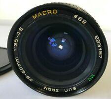 SUN ZOOM 28-80mm 3.5-4.5 MACRO MC LENS for Pentax PK