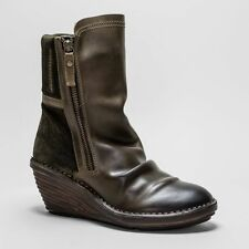 FLY London Zip Casual 100% Leather Boots for Women