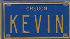 KEVIN Blue Oregon - Mini License Plate - Name Tag - Bicycle Plate!