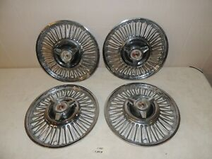1964-1966 FORD MUSTANG FALCON FAIRLINE HUB CAPS 13 INCH  OEM