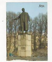 Riga Statue of Peteris Stucka Latvia Postcard 448a