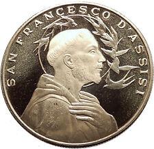SAINT FRANCIS of ASSISI & Porziuncola Church in Basilica Christian Medal i63557