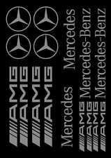 Kit de 16 Sticker Autocollant Mercedes SLK CLK ML AMG Gris m01