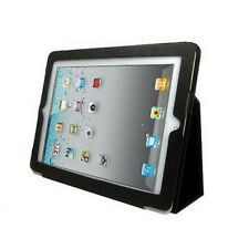 BLACK SMART THIN CASE PU LEATHER COVER STAND FOR APPLE IPAD 2