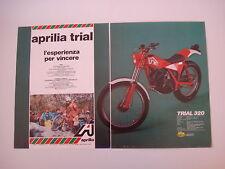 advertising Pubblicità 1981 MOTO APRILIA TRIAL 320