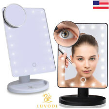 Large 10X7 Inch Touch Screen LED Lighted Makeup Mirror Tabletop Cosmetic Vanity