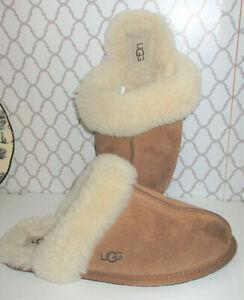 Ugg Australia Womens   Leather Closed Toe Slip On, Chestnut, Size 8