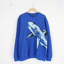 Mens New Paul & Shark Yachting Blue Shark Logo Jumper Sweater L Sweatshirt BNWT