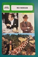 British My Fair Lady Actor Rex Harrison French Film Trade Card