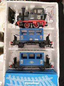 Playmobil Train 4000 Locomotive Geobra Rare Vintage Toys 1981 en boîte d'origine