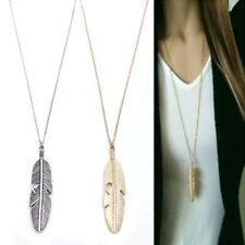 Simple classic feather neckless choker for women Gold & Silver Color