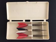 New listing Vintage Finest Quality Silvertrim Darts in Case Made in England
