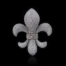 Black-gun vintage crystal rhinestone anchor design brooch pin fit unisex party
