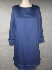 Pretty blue tunic dress - lightly glazed cotton size 14 WHISTLES