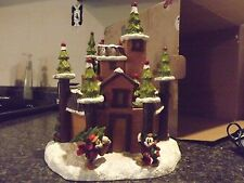 Disney Village -Wilderness Lodge Castle-DV LDG castle Christmas in original box