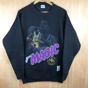 Vintage Magic Johnson Lakers MVP Salem Sportswear NBA Crewneck Sweatshirt L