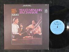 YEHUDI MENUHIN/RAVI SHANKAR East Meets West Album.2 S-36026 sitar indian ragas