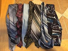 Lot Of 6 Vintage Men's Ties For Quilting Patchwork Arts Crafts