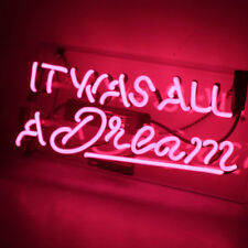 IT WAS ALL A DREAM Pink Neon Sign Light Beer Bar Club Game Shop Room Pub Poster