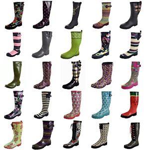 Damen Gummistiefel Regenstiefel bunte Muster/ Farben Gr. 35,36,37,38,39,40,41,42