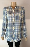 NEW J Jill Tunic Top Plaid Small Button Front Wedgewood Multi S Womens NWT $89
