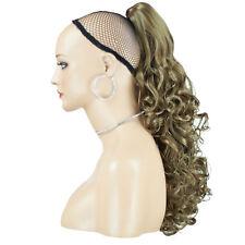 """17"""" pieza para el cabello de cola de caballo Rizado Marrón Claro #12 clip de la Garra"""