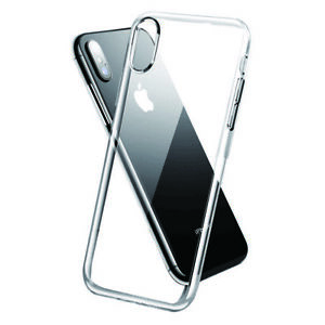 iPone XS XR Max Bumper Shockproof Clear Silicone Ultra Slim TPU Case Tempered