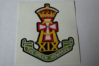"""2 X  THE GREEN HOWARDS  STICKERS  4"""" BRITISH ARMY USA  MILITARY INSIGNIA"""
