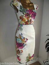 MONSOON HYDRANGEA CREAM FLORAL BUTTERFLY SHIFT DRESS 10 SO BEAUTIFUL & FEMININE!