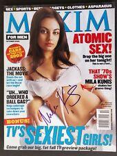 Mila Kunis Signed Maxim Magazine - COA Signatures.com