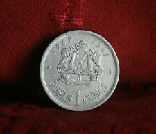 1 Dirham 1969 Morocco Nickel World Coin Africa Lions Animals AH1389