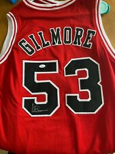 Artis Gilmore HOFer Autographed Red Chicago Bulls Jersey - JSA