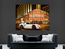 FORD GT40 SUPERCAR LAS VEGAS USA GIANT WALL POSTER ART PICTURE PRINT LARGE HUGE