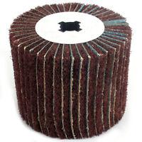 120mm Non-woven Abrasive Flap Polishing Wire Drawing Wheel Wood Burnishing