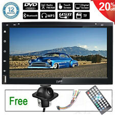 "7"" Double 2Din Car Audio Stereo CD DVD Player Bluetooth Touch Screen Radio+CAM"