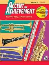 ACCENT ON ACHIEVEMENT-BARITONE T.C. MUSIC BOOK 2 W/CD'S/ONLINE ACCESS BRAND NEW!