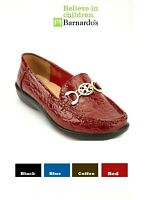 New Women's Blue Black Coffee Red Detailed Front Mock Croc Loafers Shoes #Wallia
