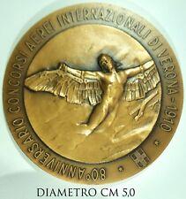 2127) Medaglia 80° Anniversario Concorsi Aerei Internazionali Verona 1990