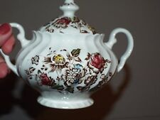 English Ironstone Sugar Bowl and Lid in Staffordshire Bouquet by Johnson Brother