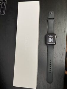 Apple Watch Series 6 44mm Space Gray Aluminum Case with Black Sport Band -...