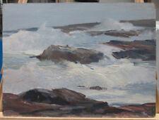 Dale Ratcliff Impressionist Coastal Surf on Rocks Listed Gloucester Rockport
