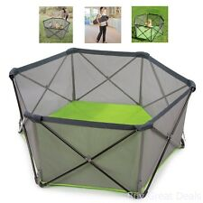 Portable Baby Playpen Kid Safety Pop Play Yard Panel Home Indoor Outdoor Pet Pen